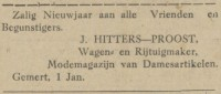 1918 advertentie Gemert