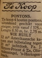 Advertentie Waterkampioen 1943